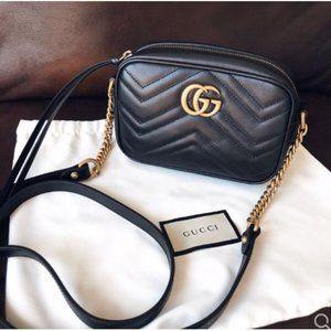 NWT Gucci Marmont Matelasse crossbody bags leasli